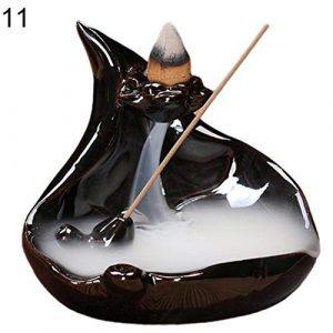 BBZ 1 Pc Mini Portable Brûleurs D'encens Titulaire Encensoir en Céramique Cascade Refoulement Conception Diffuseur Exquis Classique Décoration de La Maison, 11