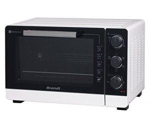 BRANDT – Mini four posable et compact 2100 W – Capacité 40L – Multifonction avec 5 modes de cuisson – Cuisson homogène – Double vitrage – Blanc