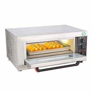 DIOE Un comptoir de four à convection commerciaux, modèles mécaniques en acier inoxydable, four compact, haute capacité four électrique 3200W pizza cuite, y compris casserole, pince à gants