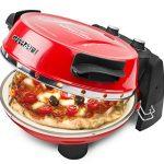 G3Ferrari G10032 Four compact électrique avec deux pierres refractables pour pizza Rouge