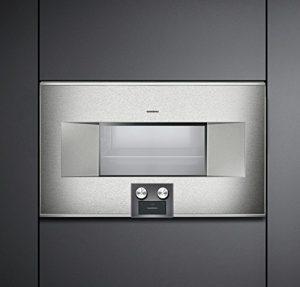 GAGGENAU Four à encastrer combiné au Micro-Ondes BM 485 110 Finition Acier Inoxydable de 76 cm