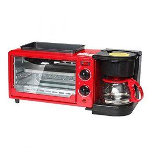 HEMFV 3-en-1 Multifonction Petit déjeuner Grille-Pain Machine à Countertop avec Top Grill & Griddle Maker Café – Commutateur indépendant de contrôle de température Peut être chronométré