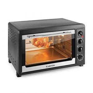 Klarstein Masterchef 60 Mini four (60L, 2500W, régulateur température: max. 230 °C, nombreux accessoires : grill, tournebroche, plaque) – noir