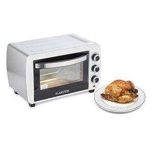 Klarstein Omnichef 20 2G Mini-four (20 L, 1500W, régulateur température: max. 230 °C, 5 fonctions de cuisson dont rôtissoire, plaque et grille incluses) – blanc
