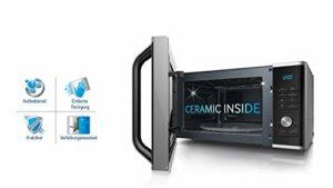 Samsung ms28F303tas/CE micro-ondes/1000W/28L/16programmes Vital/Eco intérieur de la mode/Céramique en émail/Argent