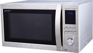 Sharp R-982STWE – Micro-ondes combiné très grande capacité 42 litres – Finition Inox