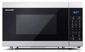 SHARP YC-MG81ES Micro-ondes avec fonction grill, programme décongélateur, 1450 W, 28 l, 11 niveaux de puissance, fonction minuteur, plateau tournant