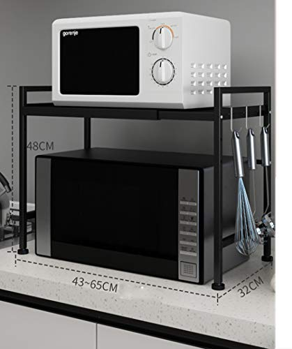 Shelf Support télescopique Multifonction/Cuisine/étagère pour Four à Micro-Ondes, Couleur: A