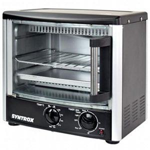 Syntrox Mini Four 14L Mini Four jusqu'à 240°, Petite Single Four à pizza four avec minuteur 60min–1500W