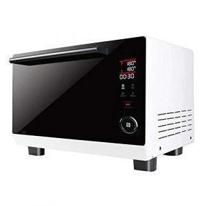 W-WXT Micro-ondes manuelle rétro four, 25 litres, 1800 watts, four vapeur, four blanc cuisson à la vapeur de table, four multifonction, grand four électrique