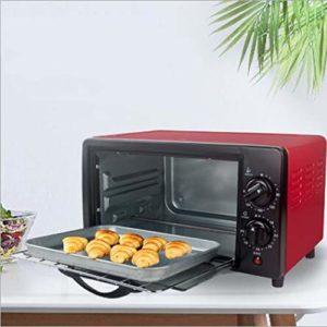 AZLLY Mini four électrique 12 l avec plaque double, multiples fonctions de cuisson et grill, température réglable, minuterie – 800 W