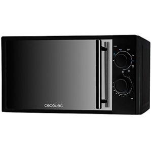 Cecotec Micro-ondes avec Grill All Black avec Gril. Capacité de 20 L, 700 W de Puissance, gril de 900 W, 9 Niveaux de Fonctionnement, Minuterie 30 minutes, Mode Décongeler , Finition Noir.