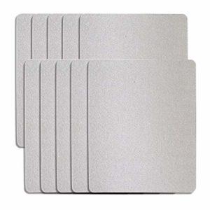 Couverture de guide d'ondes, feuille de mica universelle pour four à micro-ondes, pièce de réparation de four à micro-ondes, feuilles de plaques de mica coupées à 12x12cm
