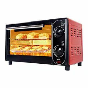 Four électrique 12 L 220 V pour la cuisson, multifonction, four compact, temps et température peuvent être contrôlés, gâteau peut être cuit (couleur : rouge)
