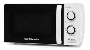 Orbegozo Micro-ondes avec 20 litres de capacité, 6 niveaux de fonctionnement, minuterie jusqu'à 30 minutes, 700 W de puissance 700 W blanc