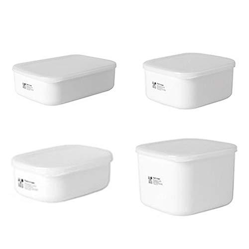 didatecar Réfrigérateur en Plastique bac à Micro-Ondes Four à Lunch Boîte Rectangulaire Petite Boîte à Lunch Boîte de Rangement des Aliments(L)