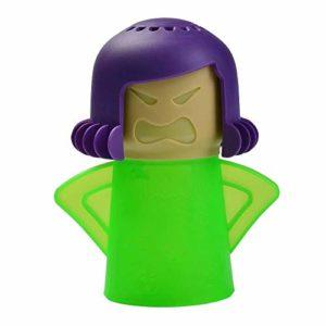 SANDIN Angry Mama Nettoyeur à vapeur pour four à micro-ondes à action rapide Nettoyant à micro-ondes Enlève la cuisine avec de l'eau et du vinaigre Nettoyeur à vapeur pour micro-ondes Outil de