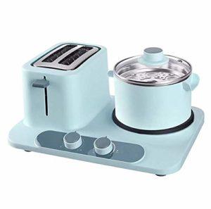 Barbecue Micro-ondes Grille-pain, petit déjeuner machine à trois-en-un Toast Toast Four Grille-pain Accueil 1320W, étuvé, bouillis, frits, multi-fonctionnelle, 1.2L, poudre / panier (Couleur: Bleu) (C