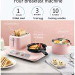 MOLLYNANA 3 en 1 Petit-déjeuner Grille-pain œufrier de œufrier avec mini four en acier inoxydable compact Petit-déjeuner/four pour griller la cuisson des œufs/Omelette / 6 vitesses, cuisso.