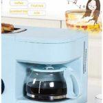 MOLLYNANA Petit-déjeuner Grille-pain œufrier de œufrier avec mini four en acier inoxydable 2en1 petit café Compact four pour griller/cuisson des oeufs/omelette/vapeur 7 vitesses, Blanc,Bleu