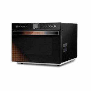 NIHAOA Barbecue Micro-Ondes Compact Micro-Ondes avec Conversion de fréquence Intelligente, Cuisine capteur, Rapide Chauffage Four, Fonctionnement de l'écran Tactile en Acier Inoxydable, 25 litres
