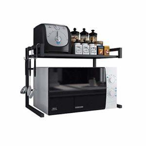NIHAOA Barbecue Micro-Ondes Réglable Four à Micro-Rack de Cuisine Support de Rangement de Cuisine Étagère épices Armoire de Rangement 43~65 * 32 * 42cm