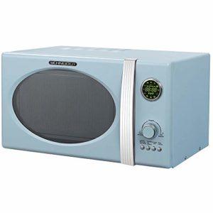 Schneider Comsumer MW 823G LB Comptoir Micro-onde combiné 23 L 800 W Bleu – Micro-ondes (Comptoir, Micro-onde combiné, 23 L, 800 W, boutons, Rotatif, Bleu)