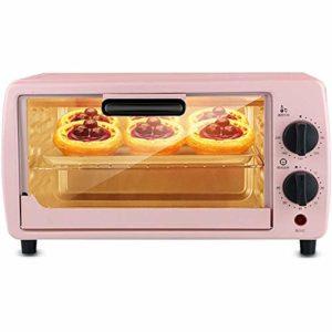 TGhosts Four, 9L Mini four température réglable 0-230 ℃ et 60 minutes de cuisson électrique Minuteur Ménage four de cuisson Gâteau pain multifonctions entièrement automatique avec accessoires 600W