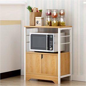 Accueil Multifonction Enfilade d'armoires de Cuisine Accueil Utilisation Boîte de Rangement Armoire Atterrir Four Micro-Ondes Espace Rack Sauvegarde 60X34X77.5cm (Color : Pear Wood Color)