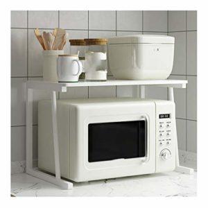 AIOEJP Étagère à grille-pain avec étagères pour four micro-ondes et four à micro-ondes, blanc, 80x35x40cm