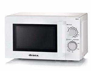 Ariete 952 Four à micro-ondes avec support, 20 litres, chauffage, cuisson et décongélation, 5 niveaux de puissance, 3 fonctions combinées, grill, plat tournant 25,5 cm, minuterie 35 minutes, blanc