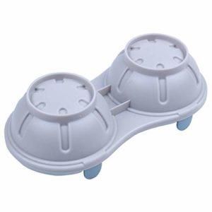 Chaudière à oeufs Micro-ondes pocheuse Faitouts à double Coupe Cave double haute capacité design Cuisinière oeuf oeufs Coupes Braconnage (Color : Nordic Blue, Size : M)
