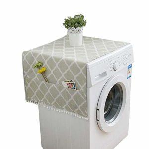 Housse de protection anti-poussière pour réfrigérateur et four micro-ondes avec poches latérales de rangement pour machine à laver 55 x 130 cm