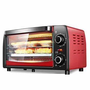 Mini four électrique pour la cuisson,petit four électrique et grill,mini four avec plaques de cuisson,four électrique domestique 12L,minuterie de 60 minutes,contrôle de température gratuit,rouge