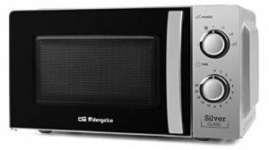 Orbegozo Micro-ondes avec 20 litres de capacité, 6 niveaux de fonctionnement, minuterie jusqu'à 30 minutes, 700 W de puissance 700 W argent