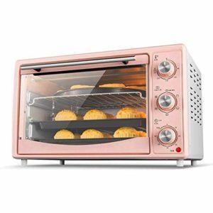 YHLZ Mini-Four, 30L Rose Mini Four température réglable 60-250 ℃ et 60 Minutes Timing ménages Multi-Fonction Tourner la Fourche Fonction/Fermentation Dégel Four électrique 1500W