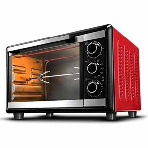YHLZ Mini-Four, Mini 30L Four 1500W Ménage à Trois Couches Grill entièrement Automatique for la Cuisson Fourchette Pizza température réglable 0-250 ℃ et 120 Minutes minuterie
