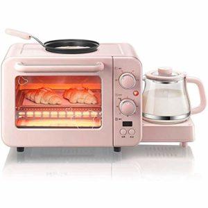 YHLZ Mini-four, mini-8L Four à vapeur multifonction Friture machine de cuisson machine chaude potable à trois en une machine automatique de température réglable 100-250 ℃ et 30 minutes Timing en verre