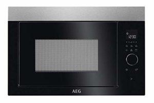 AEG MBE2657DEM Intégré Micro-onde combiné 26 L 900 W Noir, Acier inoxydable – Micro-ondes (Intégré, Micro-onde combiné, 26 L, 900 W, Tactil, Noir, Acier inoxydable)