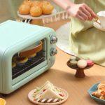 Double position de cuisson intelligente mini-four ménager 12L four transparent four électrique minuterie cuisson contrôle de la température smart fortwo electric petite air fermentation de poulet rôti