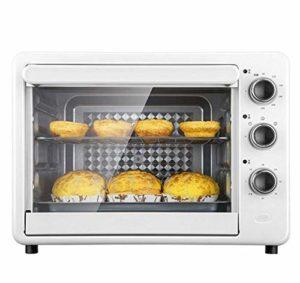 Grille-pain multi Cuisinière électrique Mini-four, Contrôle de température réglable et minuterie for la cuisson de gâteau Pizza 32L, Bleu SHIYUE (Color : White)