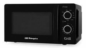 Orbegozo MIG 2131 Micro-ondes avec grill avec 20 litres de capacité, 5 niveaux de fonctionnement et 3 fonctions combinées, minuterie jusqu'à 30 minutes, 700-900 W