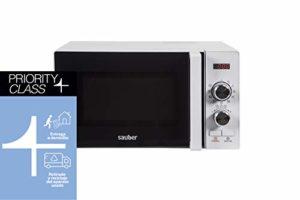 Sauber – Four micro-ondes avec grill HMS02WDG – 20 litres – Blanc