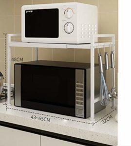 Support télescopique multifonction/cuisine/étagère pour four à micro-ondes, couleur: B