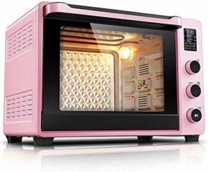 Wghz Mini Four avec cuisinière électrique, Four à gâteau de Cuisson à Domicile, Mini-Four Automatique à la Maison de 40 litres, Affichage à LED, sondes de température Doubles, Bouton de réglage e