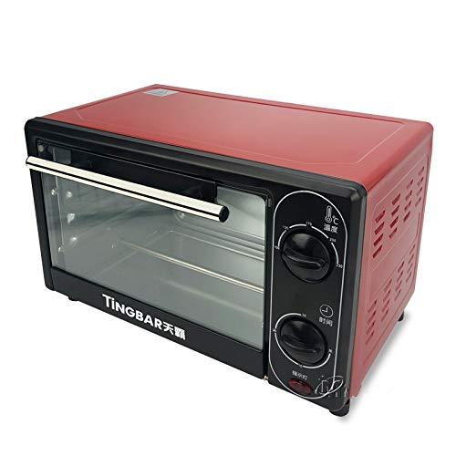 Zhuowei 12L 1500W Mini Four Électrique Domestique, Tarte Pizza Machine Pain Cuisson Acier Inoxydable Prenez Temps Et La Température Peut Être Contrôlée À 360 Degrés Chauffage Design,Rouge