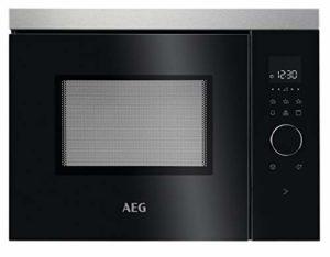 AEG MBB1755DEM Intégré Micro-onde combiné 17 L 800 W Noir, Acier inoxydable – Micro-ondes (Intégré, Micro-onde combiné, 17 L, 800 W, Tactil, Noir, Acier inoxydable)