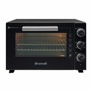 Brandt FC609MUB – Mini four Multifonction – Capacité 60L – 5 positions de cuisson – 2200W – Chaleur tournante – Accessoires : lèchefrites, grille et pince – Noir