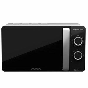 Cecotec Micro-ondes ProClean 3050. Capacité de 20 L, Revêtement Ready2Clean, 700 W de Puissance, 6 Niveaux de Fonctionnement, Minuterie 30 minutes, Mode Décongeler , Finition Noir et Argenté.