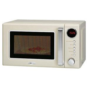 Clatronic Micro-ondes MWG 790, 44 cm, avec minuterie, Rouge beige